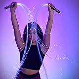 GloFX Space Whip Pro - 6 Ft 360° Swivel Fiber Optic Whip - Programmable LED Light Rave Toy Pixel Flow Lace