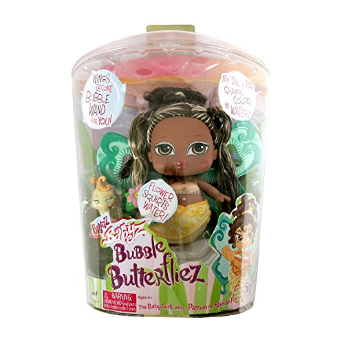 MGA Entertainment Bratz Babyz Bubble Butterfliez Series 5 Inch Doll - SASHA with Flower that Squirts Water and Yellow (Bratz Babyz Bubble)
