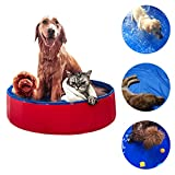 NEEDL CO Foldable Pet Swimming Pool - Pet Outdoor Swimming Playing Pond Dogs Grooming Shower & Kiddie Pools