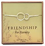Sterling Silver Friendship for Eternity Bracelet, Two Interlocking Infinity Circles Gift For Best Friend