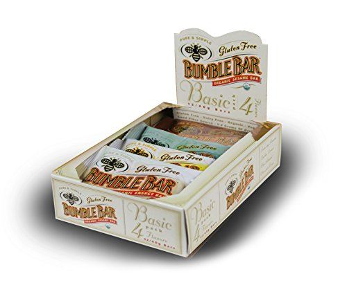 (BumbleBar Gluten Free Organic Energy The Basic Box, Four Flavors, 1.4-Ounce Bars, 12-Count Box )