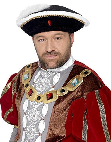 Smiffy's Men's Henry VIII Hat, Black, One Size, 24472