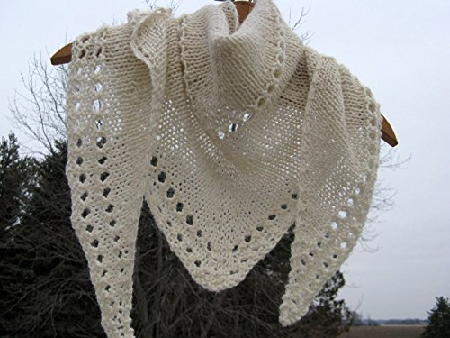 Hand knit Alpaca Shawl by North Star Alpacas