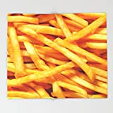 Society6 French Fries Throw Blankets 88'' x 104'' Blanket