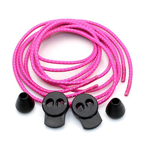 igloon(TM) No-tie Laces - Elastic Shoelace Fastening System - Lock in fit - Comfortable and Easy for Athletes, the Elderly, Children or Just Anyone who is Tired of Tying Shoelaces, easy lock lace shoelace (Rose Red)