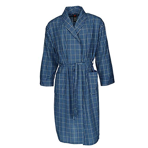 - Hanes Men's Big and Tall Lightweight Woven Robe, 3X/4X, Blue Check