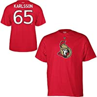 Ottawa Senators Erik Karlsson Red Name and Number T-Shirt