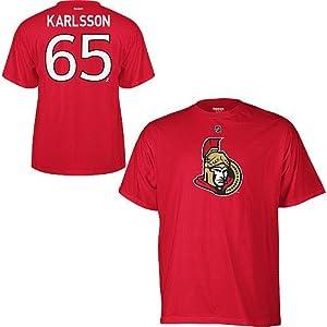 Ottawa Senators Erik Karlsson Red Name and Number T-Shirt