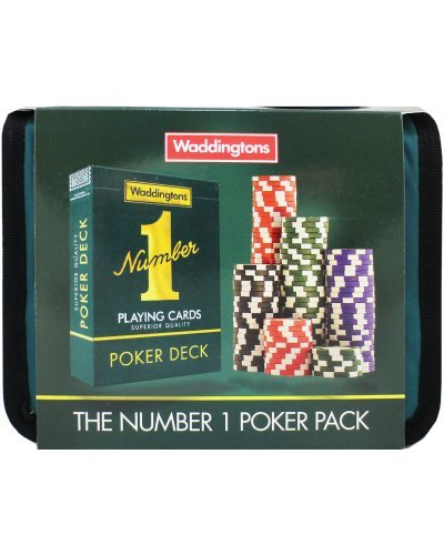 (Waddingtons No.1 Travel Poker set-Perfect for all poker fans!)