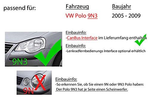 Radio de Coche Kenwood DDX4019DAB para Volkswagen Polo 9N3 2-DIN ...