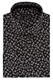 "Sean John Men's Dress Shirt Regular Fit Print, Onyx, 18.5"" Neck 36""-37"" Sleeve"