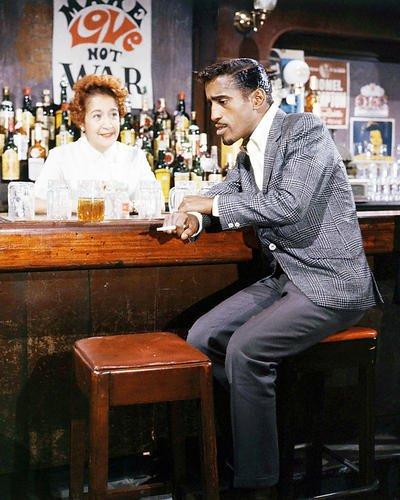 Sammy Davis Jr. 8x10 Promotional Photograph on bar stool smoking cigarette