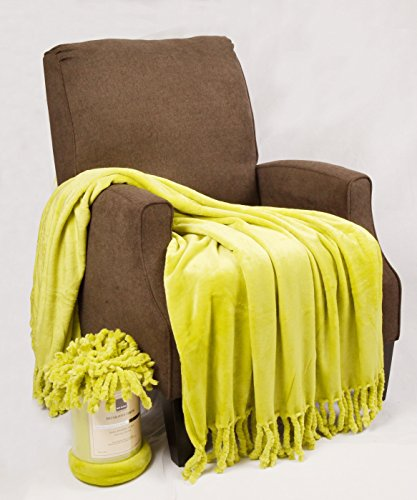 """Home Soft Things Rope Braided Throw Blanket, 50 by 60"""", Oasis Green"""
