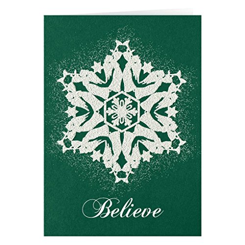 Believe Card - Personalized Believe Christmas Card Set of 20