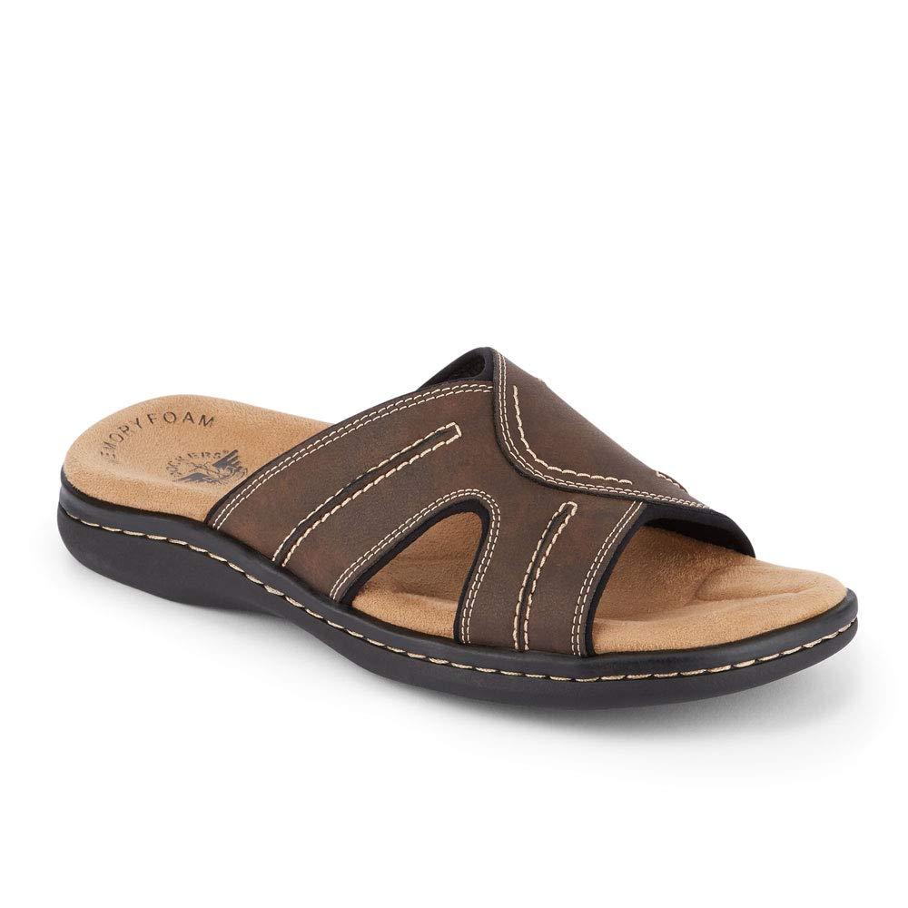 Dockers Mens Sunland Casual Slide Sandal Shoe Dark Brown by Dockers