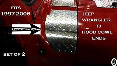 J & O Carts Parts Jeep TJ 2 PC Hood Cowl Set