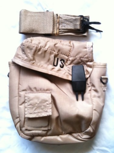 Official US Military 2 QT Collapsible Water Canteen Pouch Carrier Cover with Sling