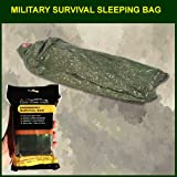 Military Survival Sleeping Bag – Olive Drab: Reflects 90% Body Heat, Outdoor Stuffs