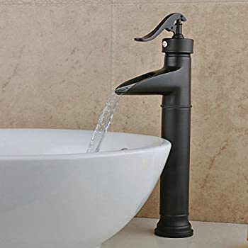 Fuloon Vintage Style Single Control Rustic Bathroom Faucet, Antique Copper  Finish Bathroom Sink Faucet (