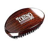 Torino Pro Wave Brush #730 By Brush King - Medium Curve 360 Waves Palm Brush - ALL Purpose 360 Waves Brush