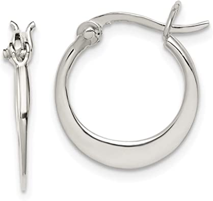 925 Sterling Silver 2 Row Hinged Hoop Earrings Ear Hoops Set Round Fine Jewelry For Women Gifts For Her