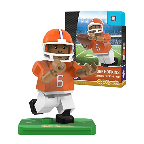 NCAA Clemson Tigers DeAndre Hopkins Gen 2 Player Mini Figure, Small, Black