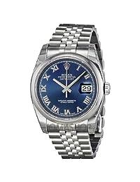 Rolex Datejust Blue Dial Stainless Steel Jubilee Bracelet Mens Watch 116200BLRJ by Rolex