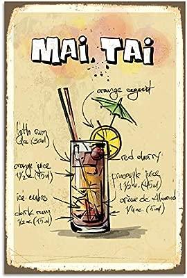 Cartel decorativo para pared - Mai Tai Cocktail Receta ...