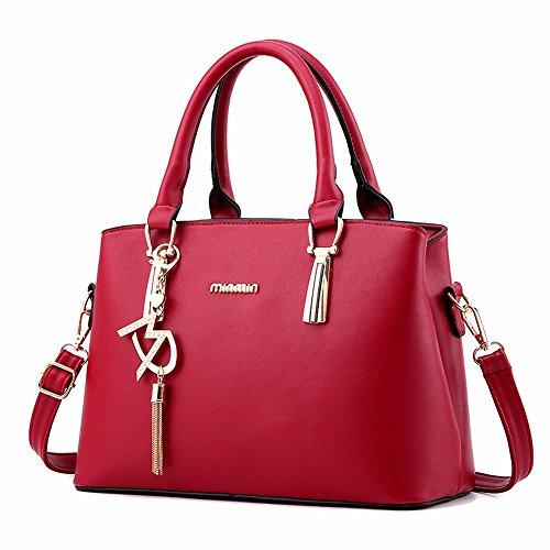 Oxford de Moda Bag de Bolso Rosa Paño rojo de Hombro de Mujeres CCZUIML Capacidad de Gran Las 1 BaAdxwAzq