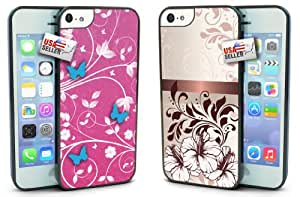 Lifebox - Cute Flowers and Butterfly Cases TWO PACK for iPhone 5c
