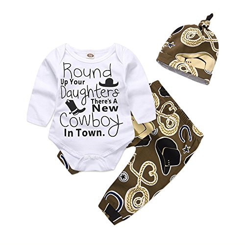 Mikrdoo Newborn Baby Boy Clothes Set Long Sleeve