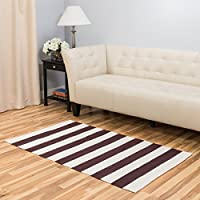 Harbormill 3 x 5 Ft. Chocolate Bold Stripe Area Rug