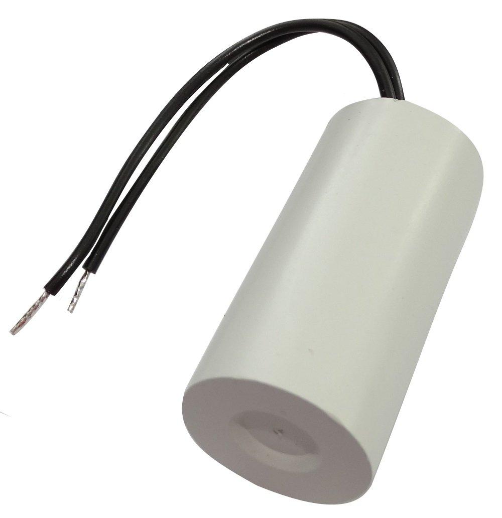 Aerzetix - Condensatore di avviamento permanente di lavoro per motore 1.5µ F 450V con cavo 10cm Ø 25x51mm ± 10% 10000h C18730-AL719