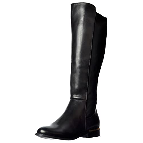 045538b1580c Onlineshoe Women s Stretch Knee High Flat Riding Boot UK4 - EU37 - US6 -  AU5 Black
