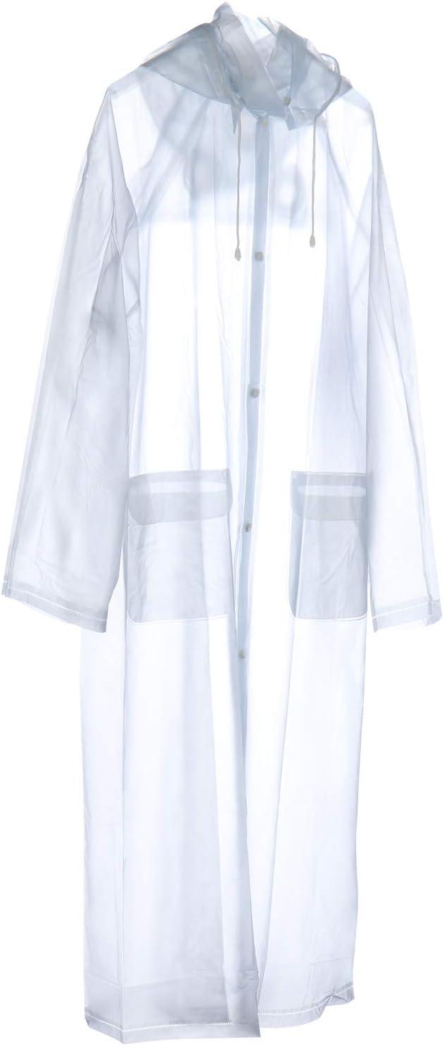 com-four® - Chubasquero Reutilizable – Abrigo Transparente con ...