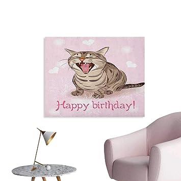 Amazoncom Anzhutwelve Birthday Wallpaper Funny Cat Sings A