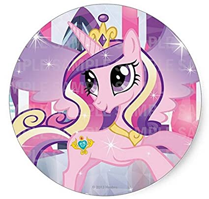 My Little Pony Princess Cadence Birthday Edible Image Photo 8quot Round Cake Topper Sheet Personalized