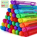 Toys : Bubble Wands Party Favors Pack of 64, Mini Neon Bubble Wands | Odor-Free Non-Toxic Kids' Bath Toy/Birthday Treats Bubble Maker Toys for Kids | Outdoor Summer Events & Celebration Toy Gift
