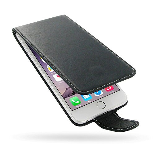 PDair Black Leather Slim Flip-Style Case for Apple iPhone 6 Plus / 6S Plus