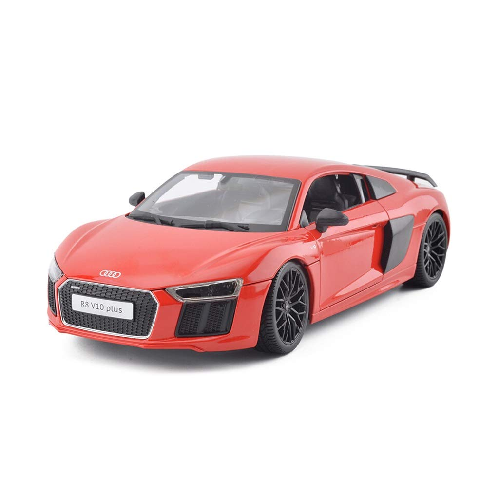 LIUFS-Alloy Car 1:18 Car Model Simulation Audi R8 Alloy Sports Car Speed and Passion 7 Original ( Color : Red )