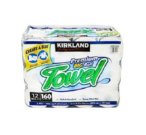 Kirkland Signature Premium Big Roll Paper Towels 12 Roll  160 Sheets Per Roll