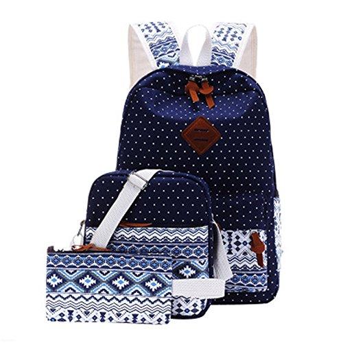 JUND - Bolso mochila para mujer Rosa Rosa Azul