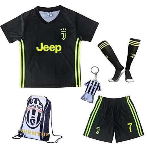 c37a285a5 GamesDur 2018 2019 Ronaldo  7 Third Black Soccer Kids Jersey   Short   Sock