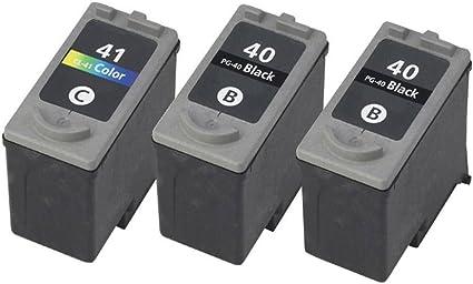 rightink 3 Pack Compatible con cartuchos de tinta para Canon PG 40 CL 41 Compatible con Pixma MP190 MP210 MP450 MP460 MP470: Amazon.es: Oficina y papelería