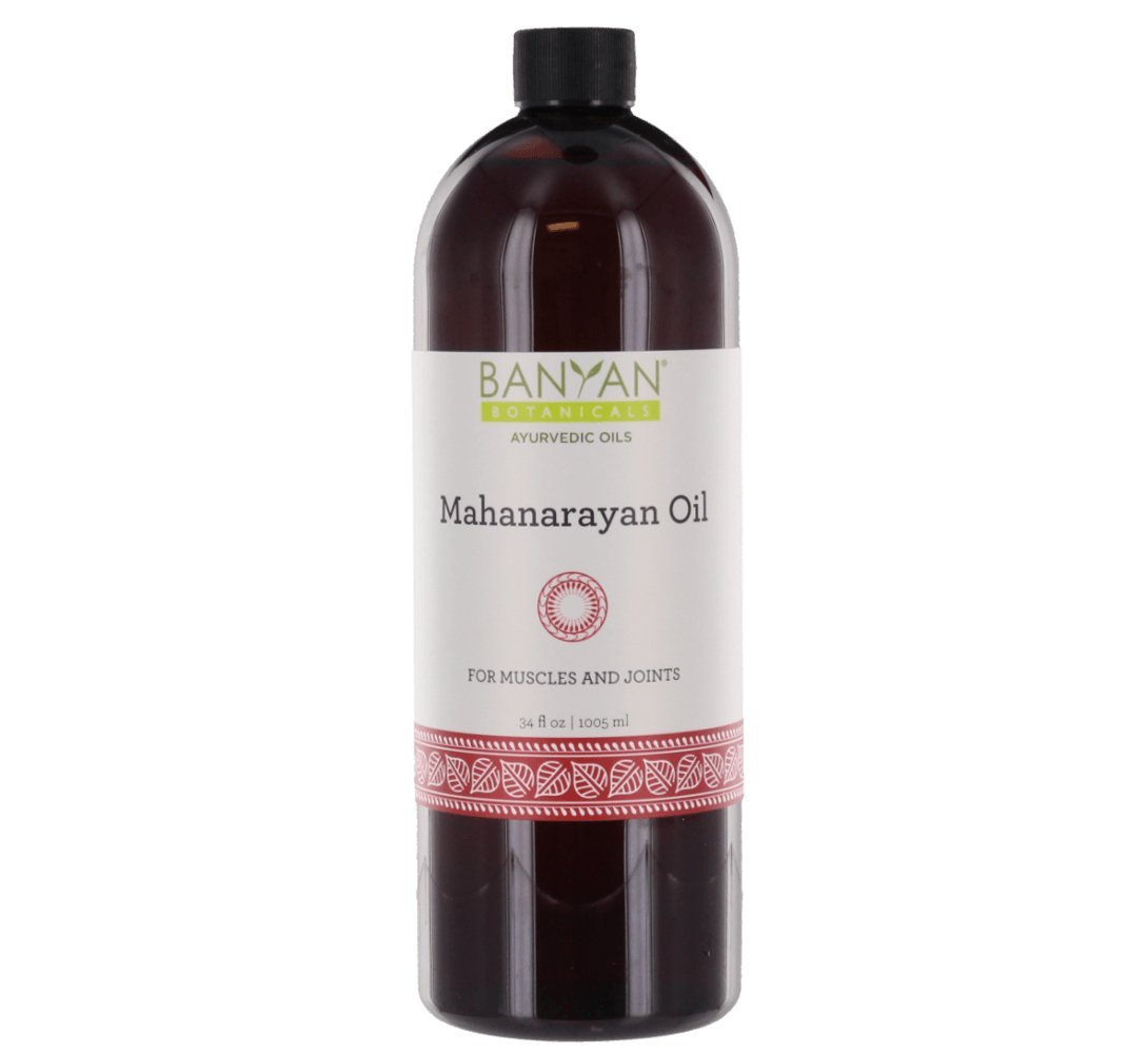 Banyan Botanicals Mahanarayan Oil - 99% Organic, 34 oz - For muscles and joints - Supports comfortable joint movement and soothes pain, stiffness and inflammation* by Banyan Botanicals