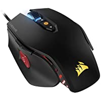 Corsair M65 Pro RGB Optical FPS Gaming Mouse (12,000 DPI Optical Sensor, 8 Programmable Buttons, RGB Multicolour Lighting, Adjustable Weights) - Black