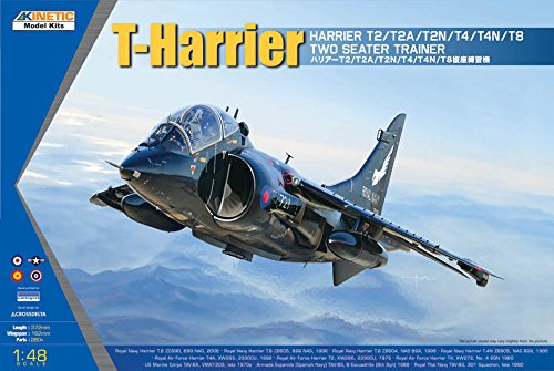 Kinetic Model Kits 1/48 Harrier T2/T2A/T2N/T4/T4N/T8 Two Seater Trainer - Trainer Seater