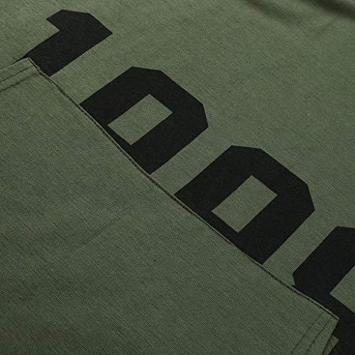 Manches Sans Chemise Décontractée Tifiy Gym Mode Armée shirt Respirant Nombre Gilet Sweat Débardeur Sport T Poches Fonctionnement Homme Fitness À Capuche Boxe Verte Impression 8v18q0xr
