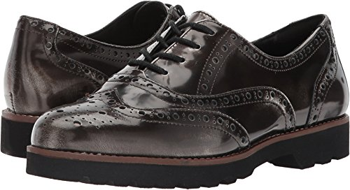Earth Womens Santana Earthies Pewter Brush-Off Leather 5.5 M US 5z4KcJdtBw