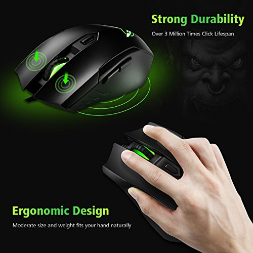 Pictek Gaming Mouse, Ergonomic Mouse Wired Mouse Optical Mice with 3200DPI,  4 Adjustable Levels, A | PrestoMall - Mouse & Mousepads